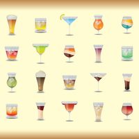 A collection of cocktail mixes