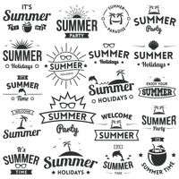 A collection of summer labels