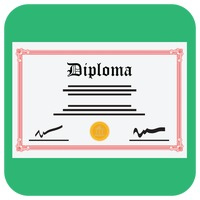 A diploma certificate