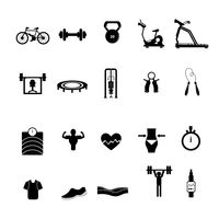 A set of gym items
