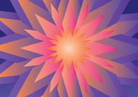 Abstract 3d flower background