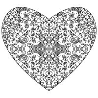 Abstract intricate heart design