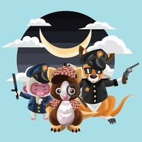 Animals wearing police uniforms