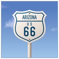 Arizona route sixty-six road sign