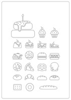 Assorted bakery icons