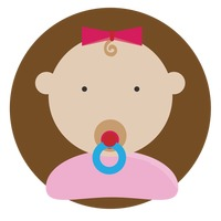 Baby girl with pacifier