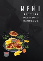 Barbecue menu with copy space
