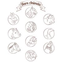 Barn animals set