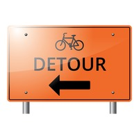 Bike detour sign
