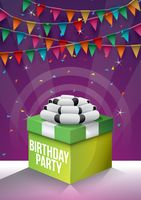 Birthday party with colorful concept background