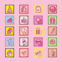 Birthday set icon