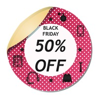 Black friday sale sticker