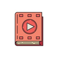 Book icon with media button