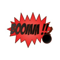 Boom comic speech bubble
