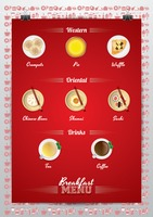 Breakfast menu poster