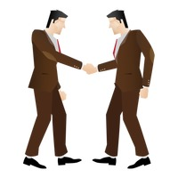 Businessmen doing handshake