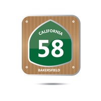 California route fifty eight road sign