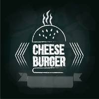 Cheeseburger menu card design