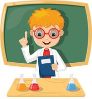 Teacher carry out experiment Vector Image - 2021140 ...