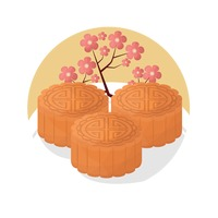 Moon Cake Clip Art : Food Foods Tradition Traditions China Culture Chinese ...