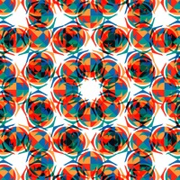 Circular patterned background