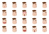 Collection facial expressions