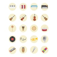 Collection musical instruments