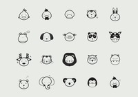 Collection of animal faces