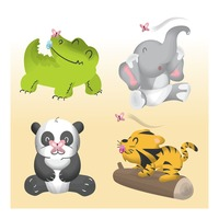 Collection of baby animals