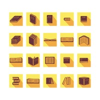 Collection of books icons