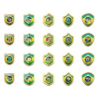 Collection of brazil badges
