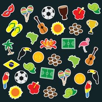 Collection of brazilian stickers