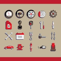 Collection of car related objects