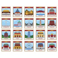 Collection of chinese landmarks
