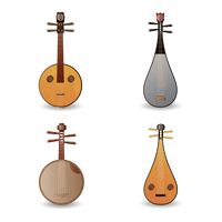 Collection of chinese string instruments