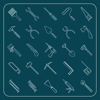 Collection of construction tools