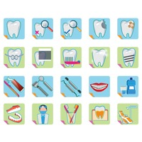 Collection of dental icons