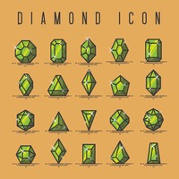 Collection of diamond icons