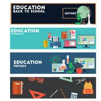 Collection of educational banners