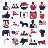 Collection of election icons