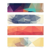 Collection of faceted banner