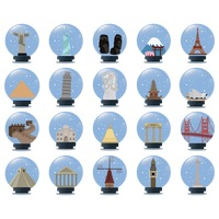 Collection of famous landmarks