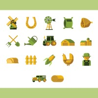 Collection of farm icons