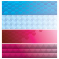 Collection of geometric web banner designs