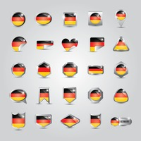 Collection of germany flag icons