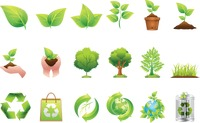 Collection of go green icons