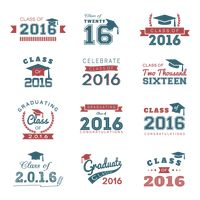 Collection of graduation labels
