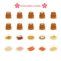 Collection of hong kong cuisine