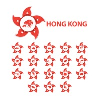 Collection of hong kong district maps