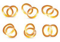Collection of interlocked gold ring